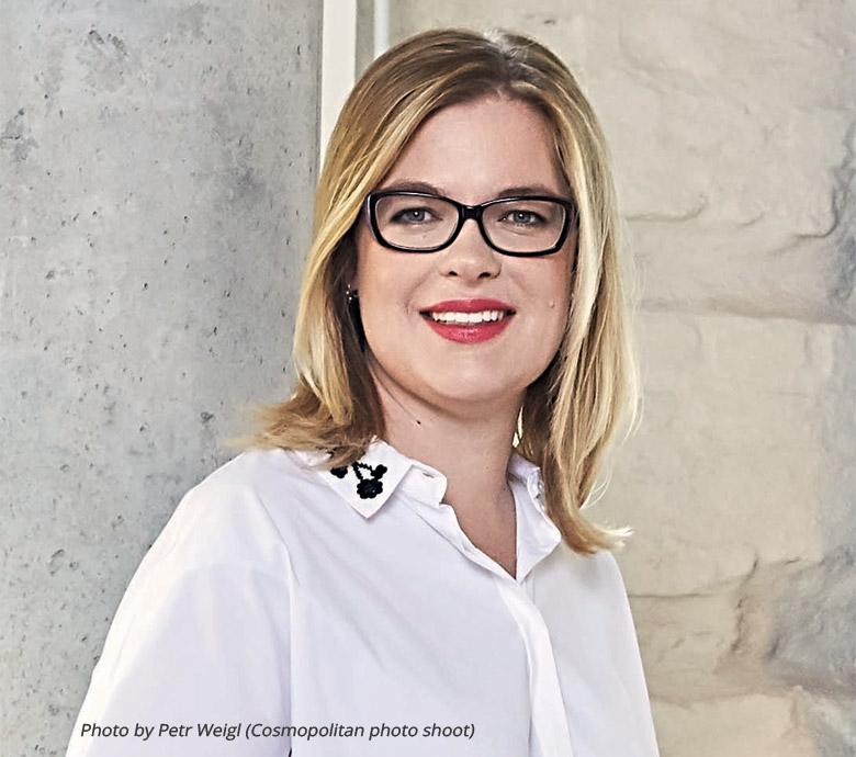 Photo of Linda Štucbartová, Founder of Diversio. Photo taken by Petr Weigl for Cosmopolitan magazine.
